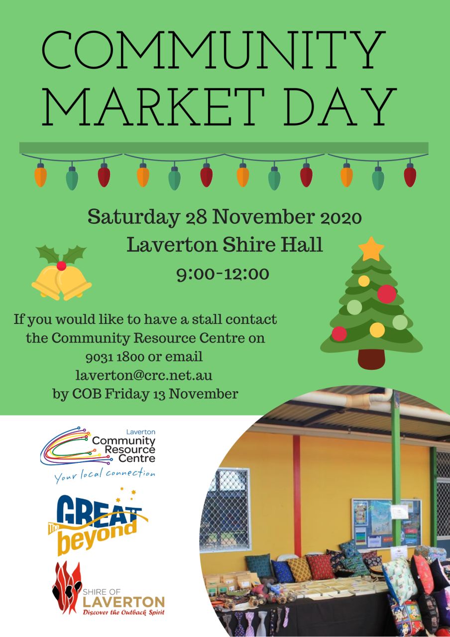Community Market Day - 28 November 2020
