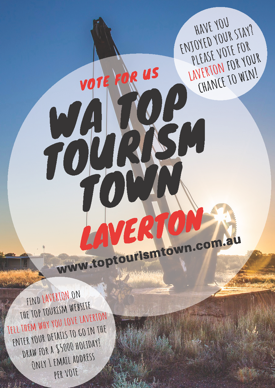 Vote for us!  WA Top Tourism Town!