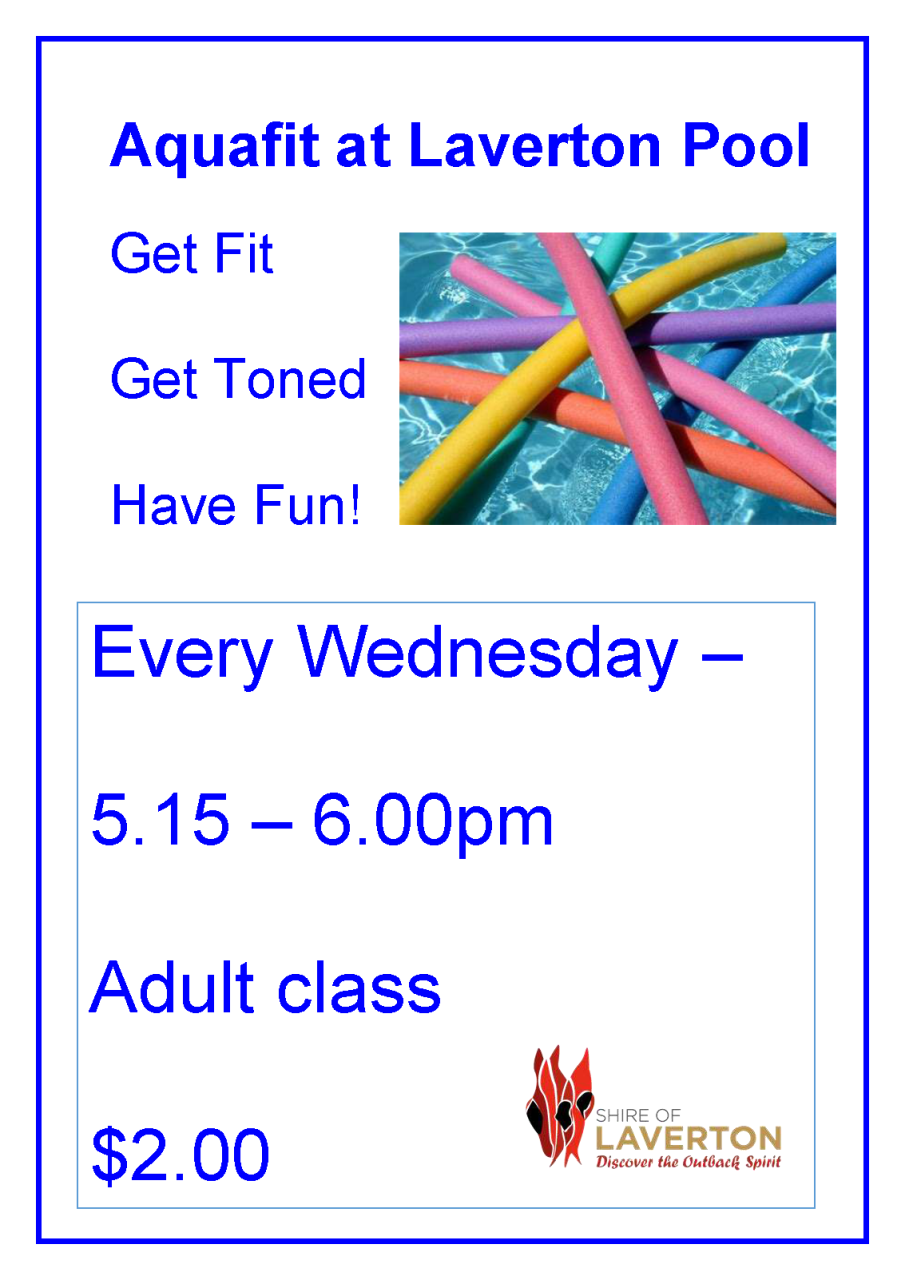 Aquafit Classes Every Wednesday